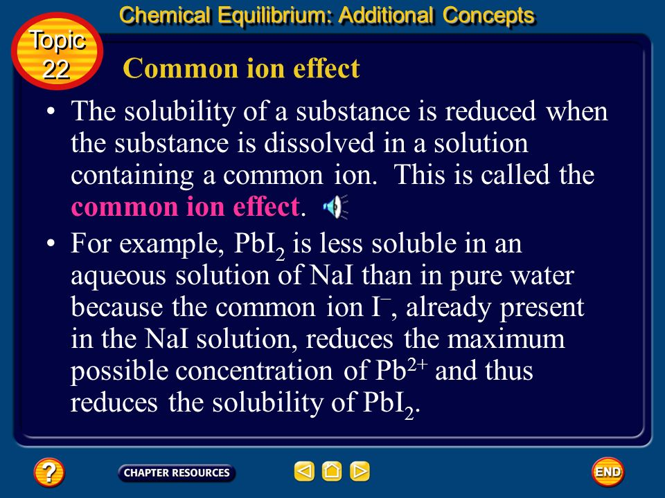 Chemical Equilibrium: Additional Concepts Predicting a Precipitate Topic 22 Topic 22 Calculate Q sp. Calculate Q sp with K sp. The concentrations of C
