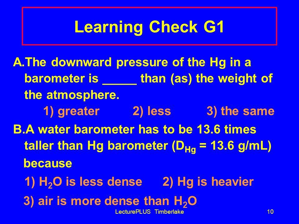 LecturePLUS Timberlake9 Barometers 760 mmHg atm pressure