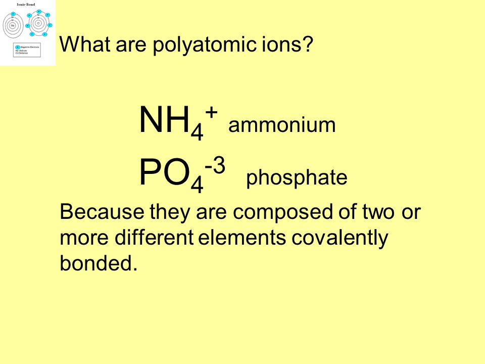Predict the formulas for calcium chloride and potassium phosphate? Answers CaCl 2 K 3 PO 4