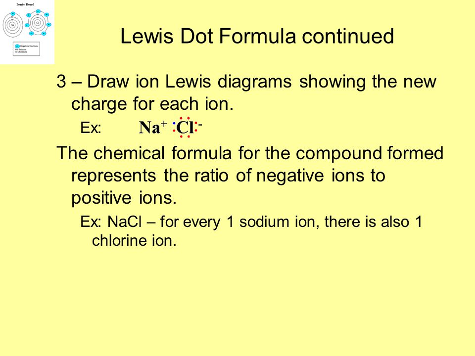 Drawing Ionic Bonds We can illustrate ionic bonding using Lewis structures. 1 – Draw the Lewis structure for each element. Ex:NaCl 2 – Draw arrows to
