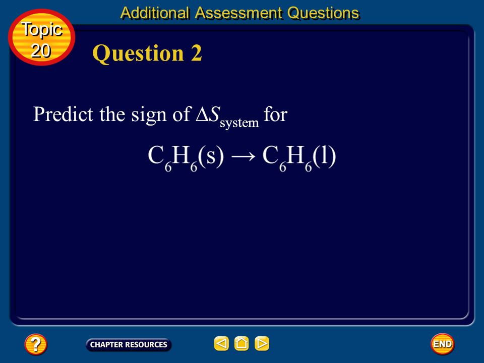 Additional Assessment Questions negative Answer Topic 20 Topic 20