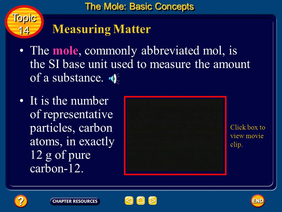 Converting Moles to Mass Calculate the mass of 0.625 moles of calcium.