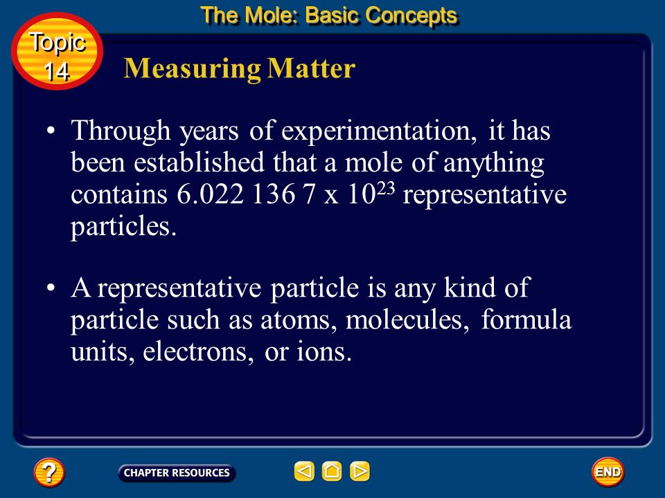 The mole, commonly abbreviated mol, is the SI base unit used to measure the amount of a substance. Measuring Matter It is the number of representative