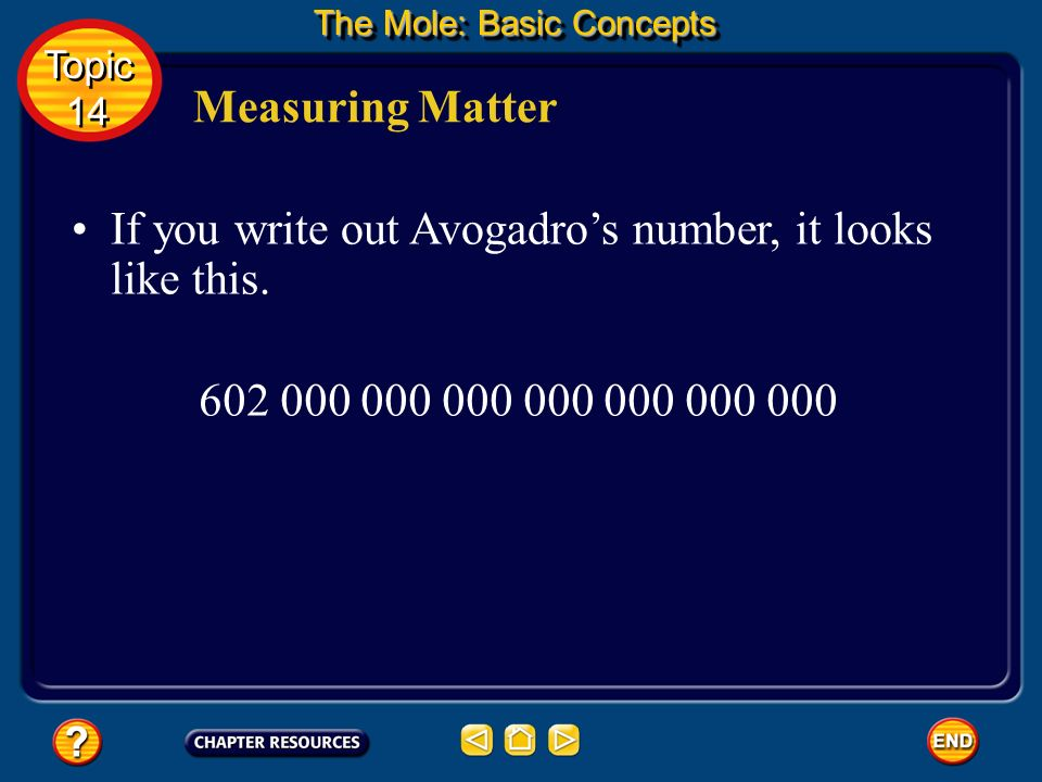 If you write out Avogadros number, it looks like this.