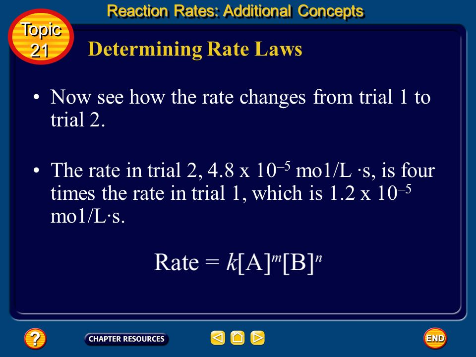 Determining Rate Laws The general rate law for this type of reaction is as follows. To start compare the data from trial 1 and 2. Notice that [NO] in
