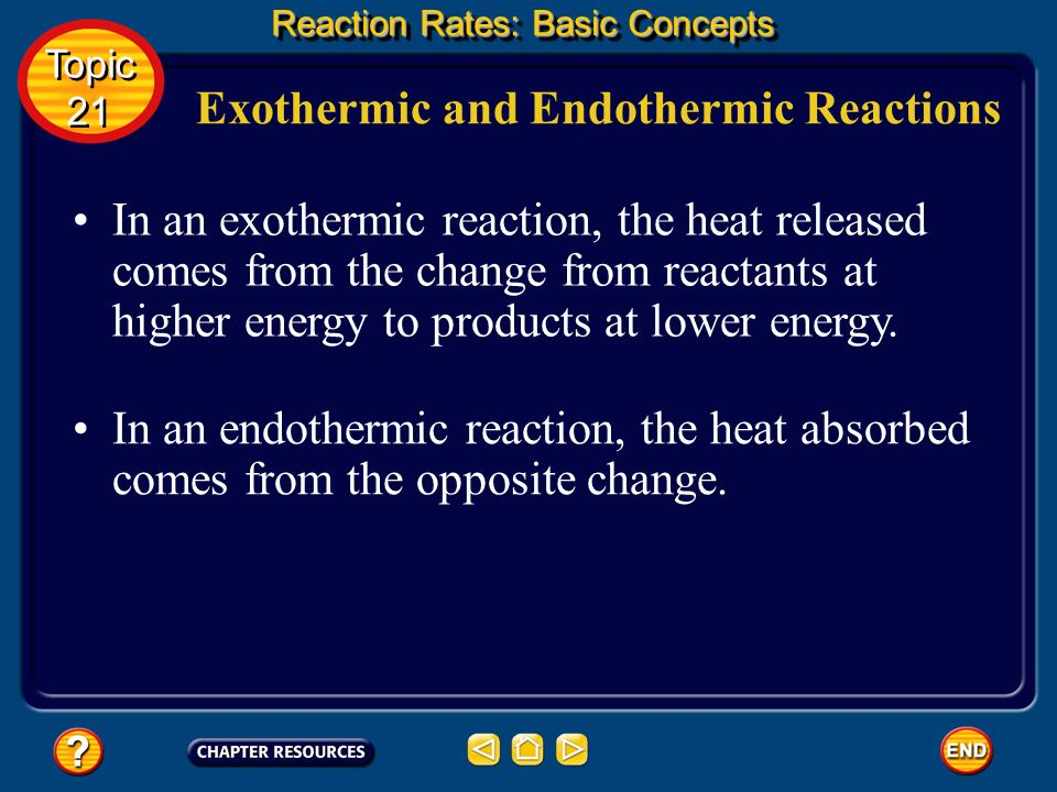 Exothermic and Endothermic Reactions This observation is an illustration of an important scientific principle known as the law of conservation of ener