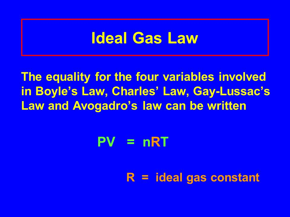 Daltons Law of Partial Pressures The % of gases in air Partial pressure (STP) 78.08% N 2 593.4 mmHg 20.95% O 2 159.2 mmHg 0.94% Ar 7.1 mmHg 0.03% CO 2 0.2 mmHg P AIR = P N + P O + P Ar + P CO = 760 mmHg 2 2 2 Total Pressure760 mm Hg