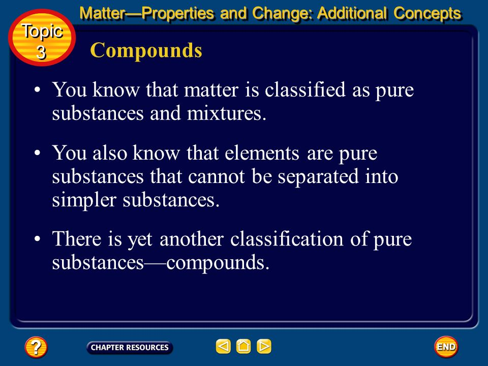 Periodic Table MatterProperties and Change: Additional Concepts Topic 3 Topic 3