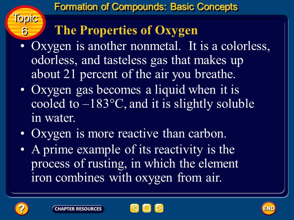 Carbon is a nonmetal and is fairly unreactive at room temperature. The Properties of Carbon Formation of Compounds: Basic Concepts Topic 6 Topic 6 How