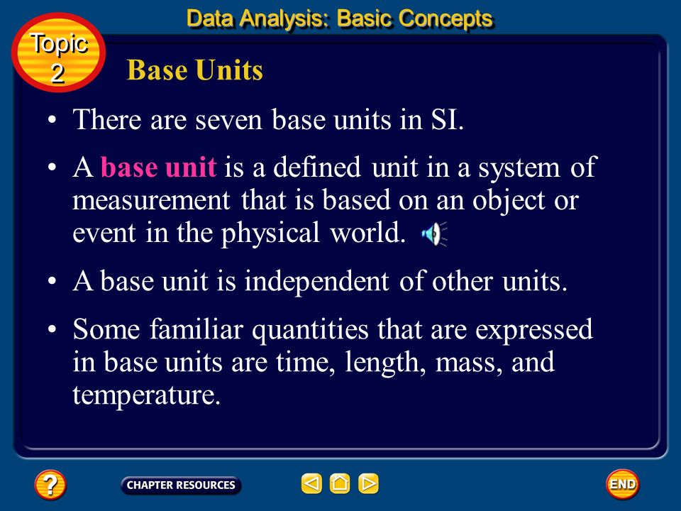 Scientists need to report data that can be reproduced by other scientists. They need standard units of measurement. SI Units Data Analysis: Basic Conc