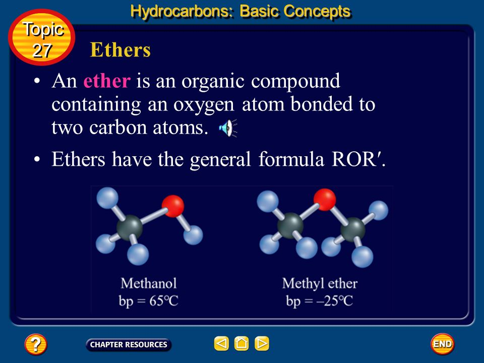 Alcohols Hydrocarbons: Basic Concepts Topic 27 Topic 27 An oxygen-hydrogen group covalently bonded to a carbon atom is called a hydroxyl group (OH). g