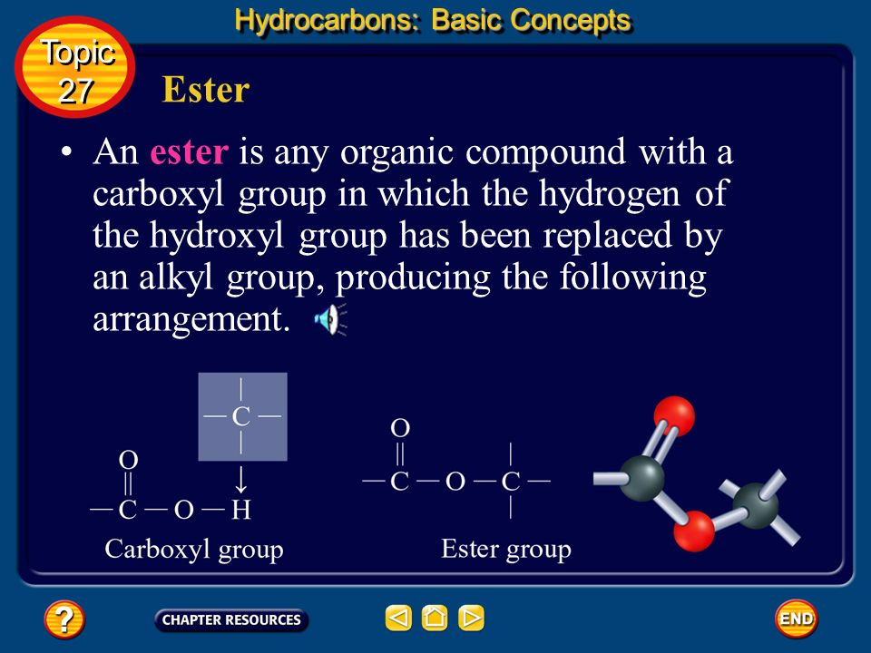 Organic Compounds Derived From Carboxylic Acids Hydrocarbons: Basic Concepts Topic 27 Topic 27 Several classes of organic compounds have structures in