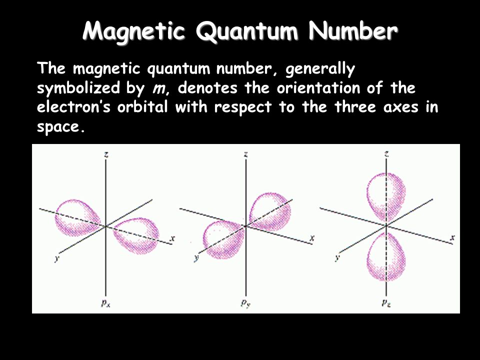 Angular Momentum Quantum Number The angular momentum quantum number, generally symbolized by l, denotes the orbital (subshell) in which the electron i