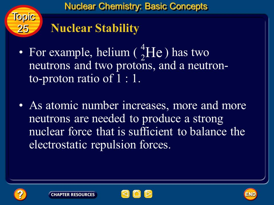 Nuclear Stability Nuclear Chemistry: Basic Concepts The answer is that the strong nuclear force, a force that acts only on subatomic particles that ar