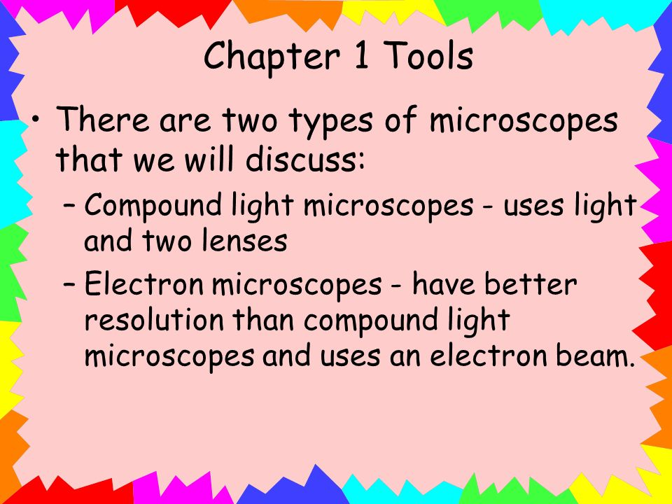 Microscopes Types And Uses Two Types of Microscopes
