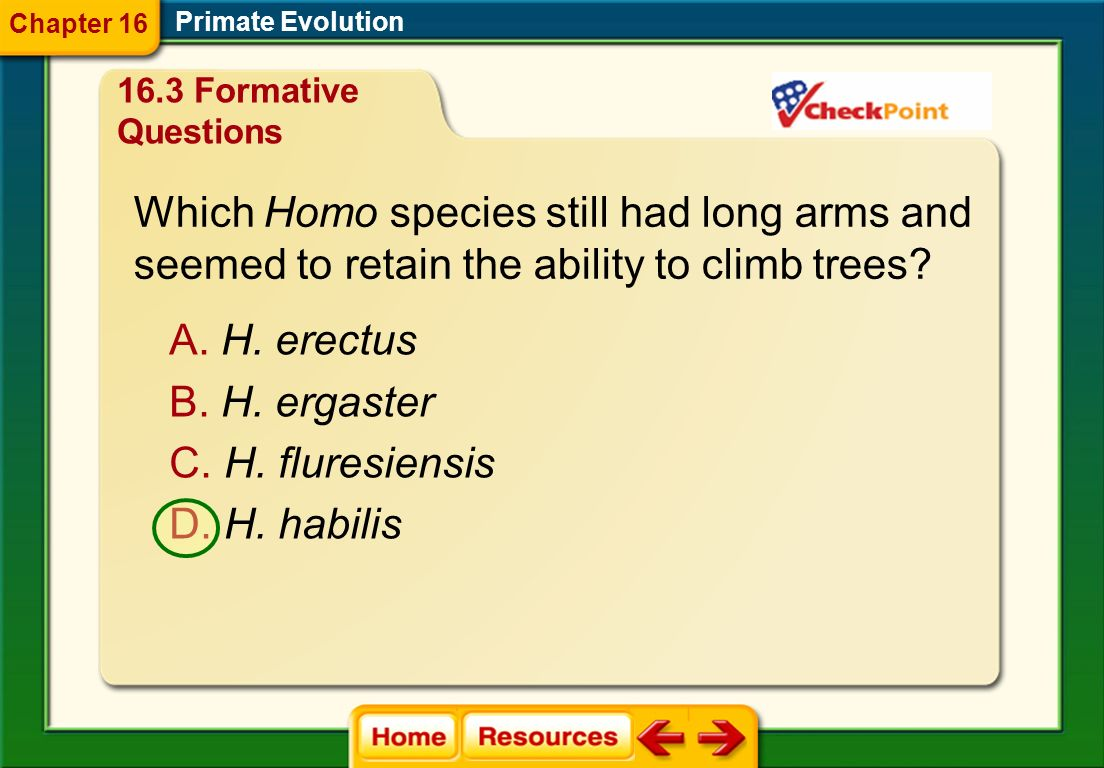 What were species in the genus Homo the first to do? A. carry objects B. control fire C. live in savannas D. walk upright Primate Evolution Chapter 16