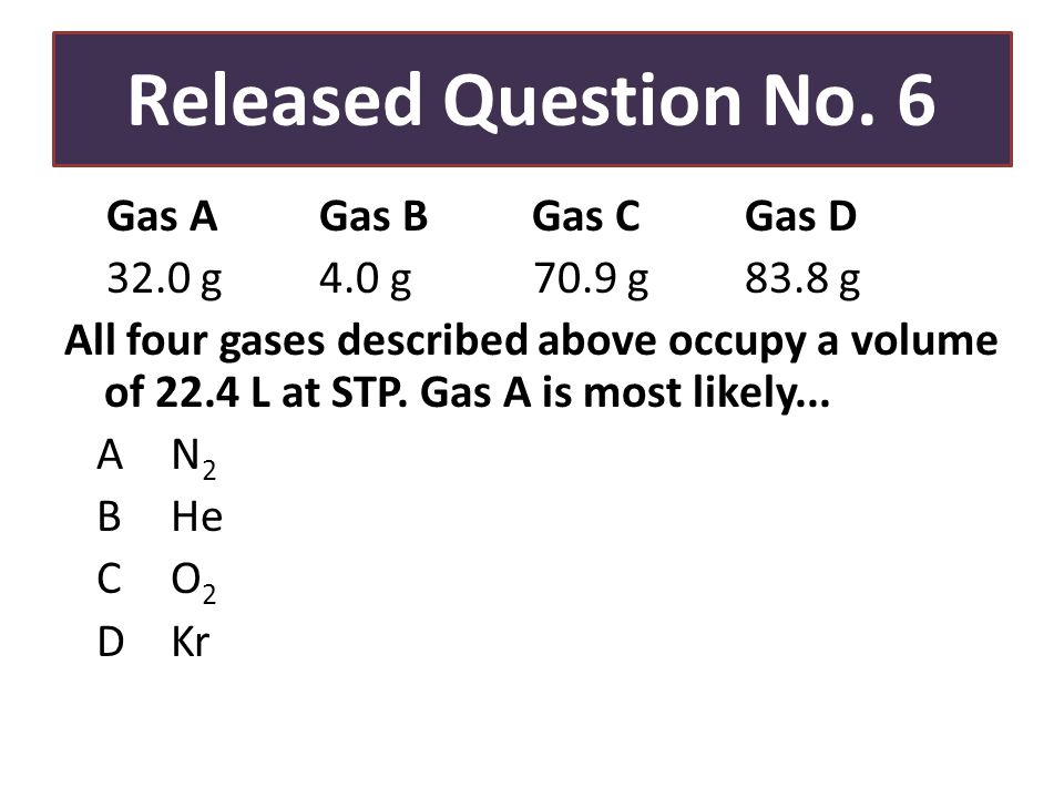 Released Question No.