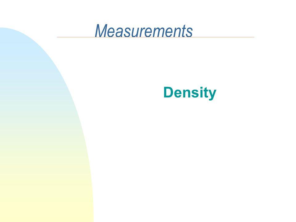 Measurements Density