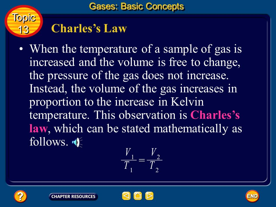 Applying Boyles Law Substitute known values and solve. Gases: Basic Concepts Topic 13 Topic 13