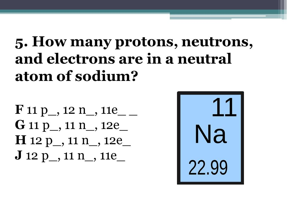 6.Which of the following is the same for both hydrogen and potassium.