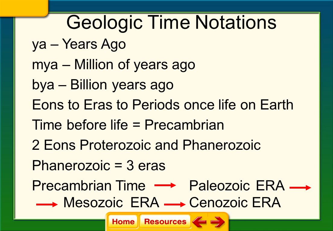 The geological time scale is a model that expresses the major geological and biological events in Earths history.