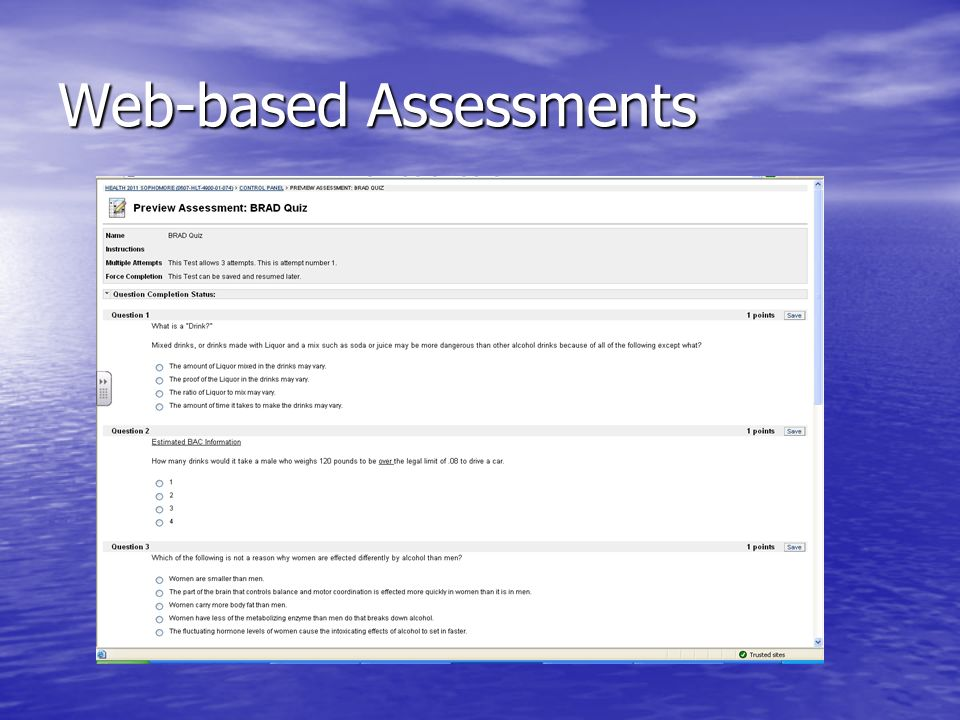 Web-based Assessments