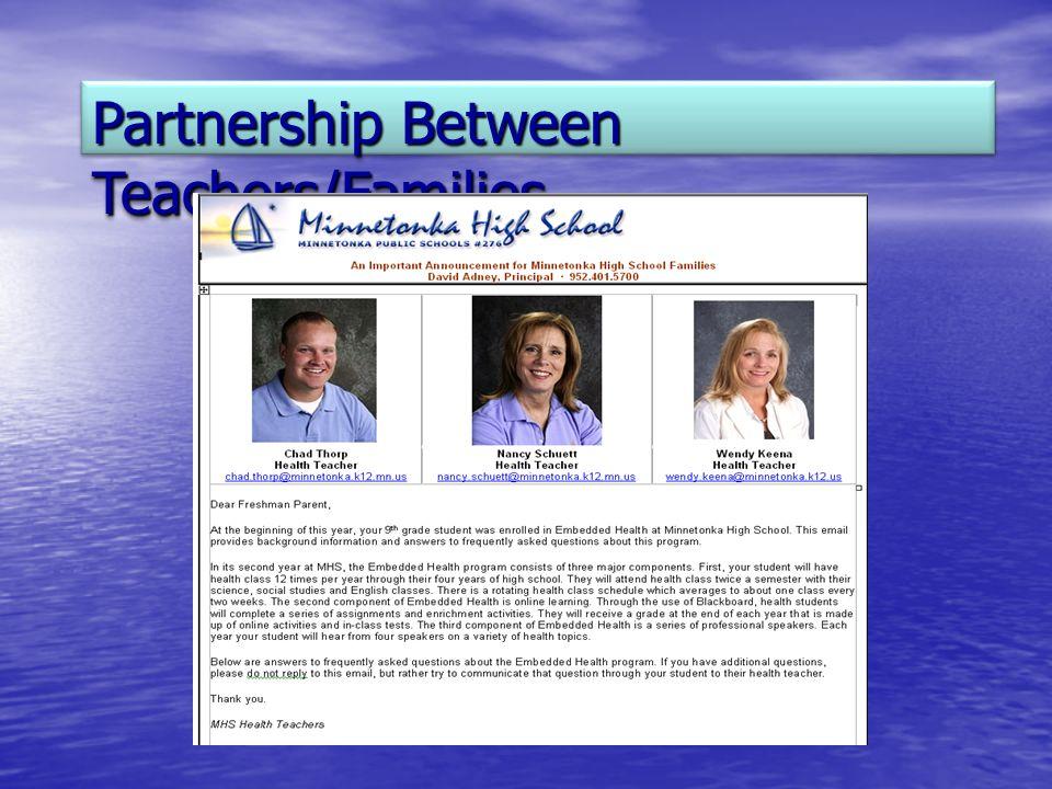 Partnership Between Teachers/Families