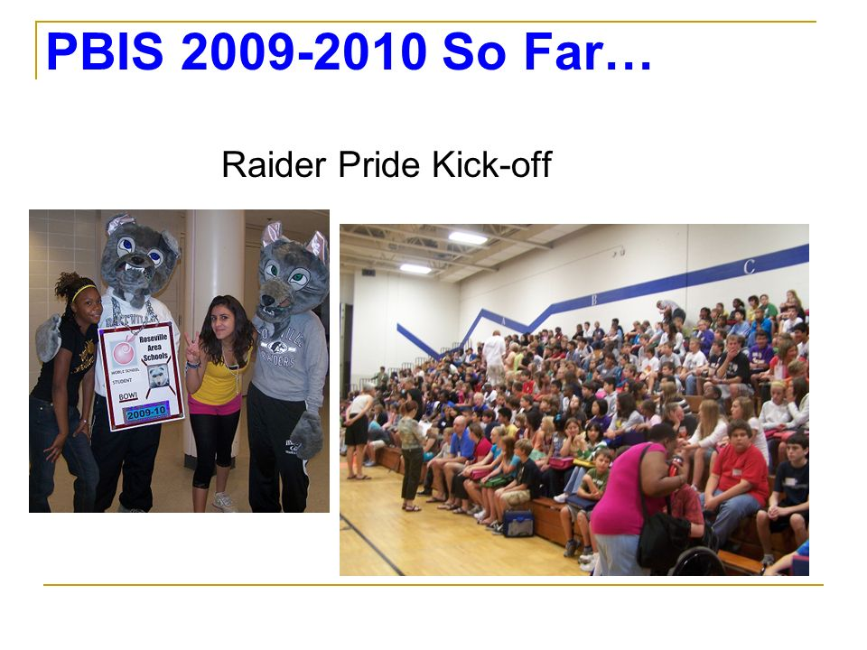 PBIS So Far… Raider Pride Kick-off