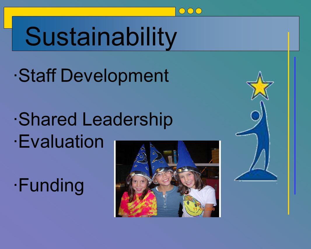 Sustainability ·Staff Development ·Shared Leadership ·Evaluation ·Funding