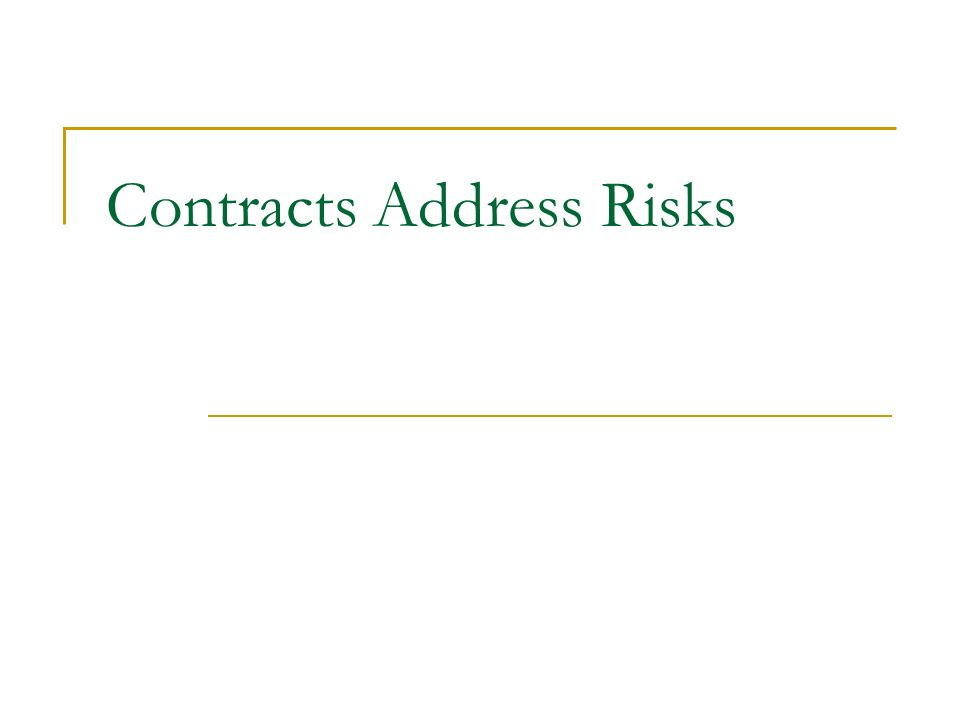 Contracts Address Risks