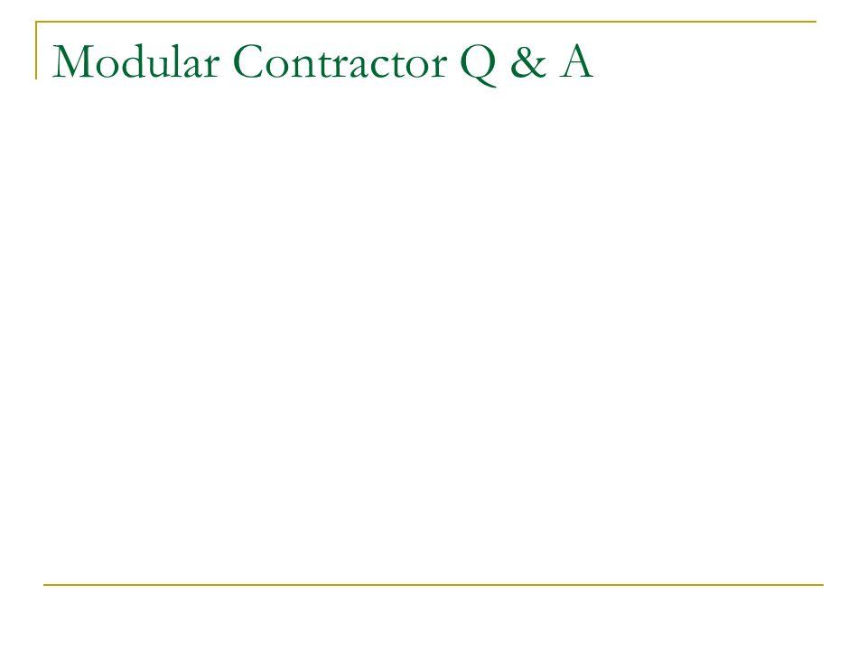 Modular Contractor Q & A