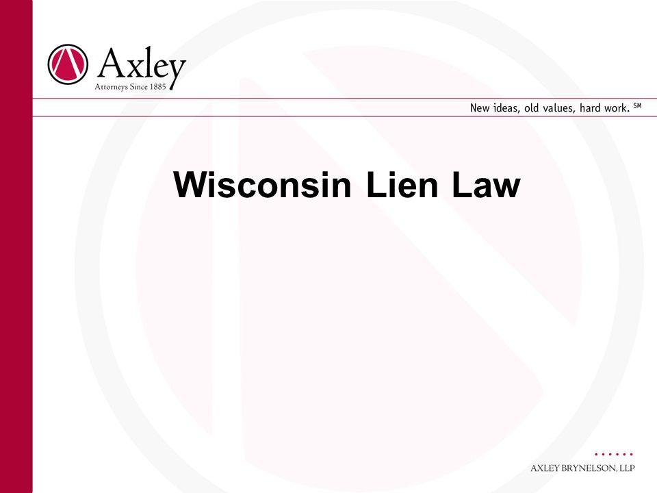 Wisconsin Lien Law