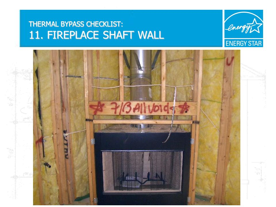 THERMAL BYPASS CHECKLIST: 11. FIREPLACE SHAFT WALL