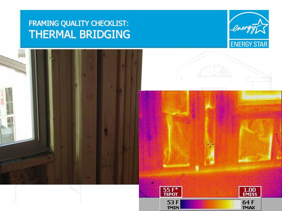 FRAMING QUALITY CHECKLIST: THERMAL BRIDGING