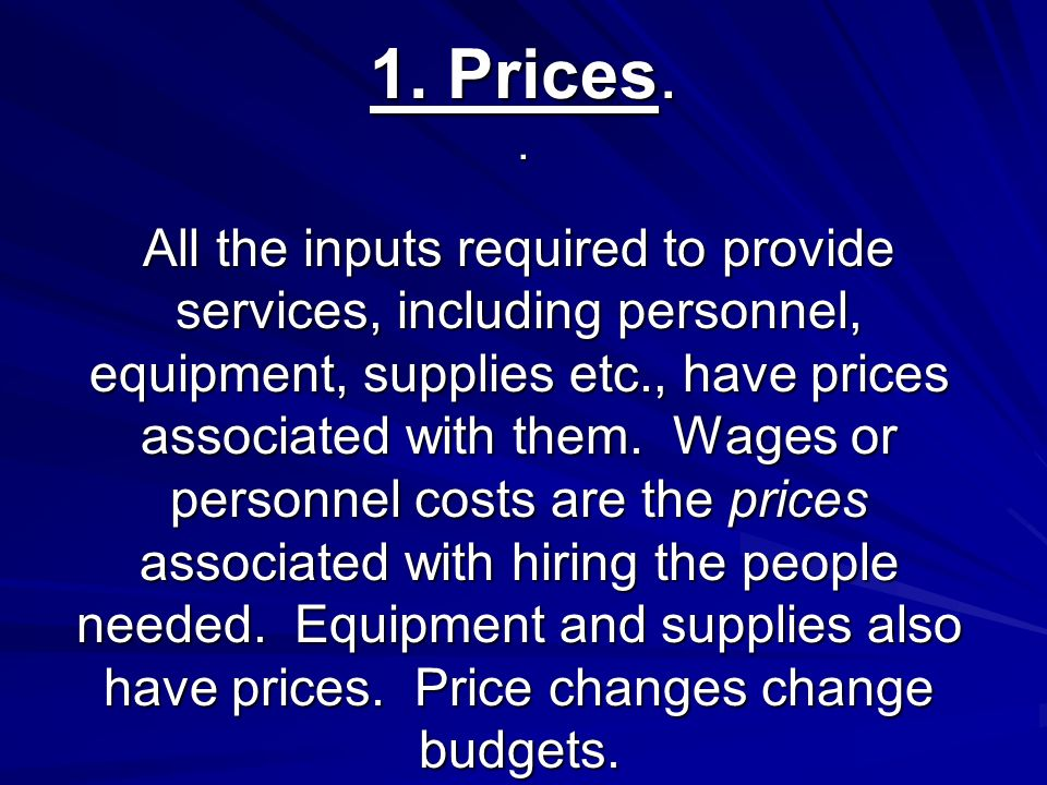 General increases in all prices = inflation