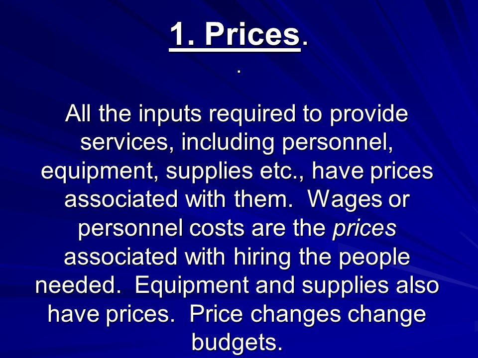 1. Prices..