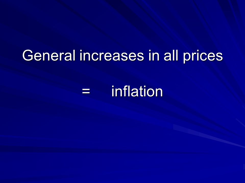 Changes in the price of a particular item, in relation to all others = relative prices