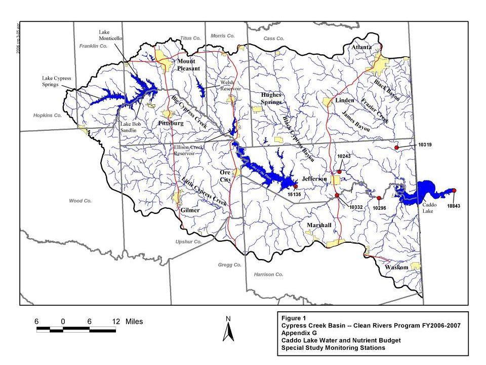 Willow Pass spillway – Jan 28, 2007 5,300 cfs Caddo spillway – Jan 25, 2007 7,300 cfs
