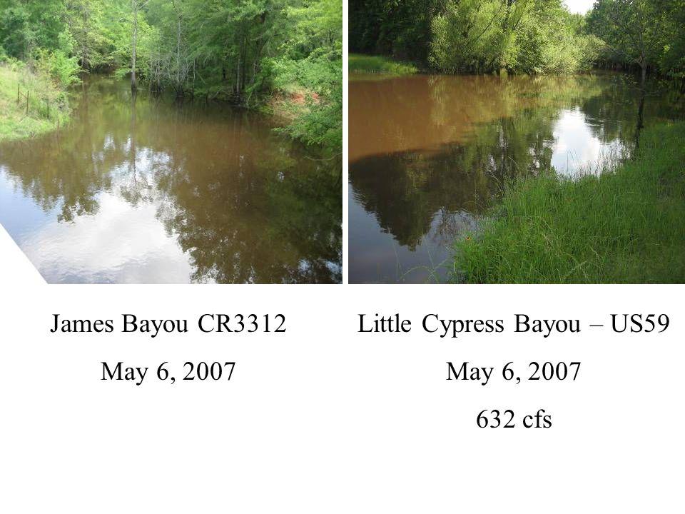 Black Cypress – SH49 May 6, 2007 239 cfs Big Cypress – SH43 May 6, 2007 906 cfs