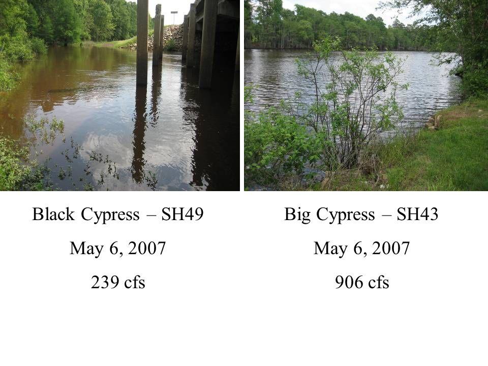 Big Cypress – Below L.O.P. May 6, 2007 35 cfs Big Cypress – Below L.O.P. February 1, 2007 1,660 cfs