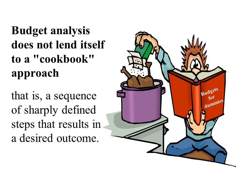 Budget analysis does not lend itself to a