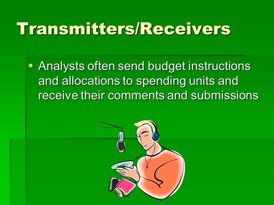 Presenter – analysts make formal presentations