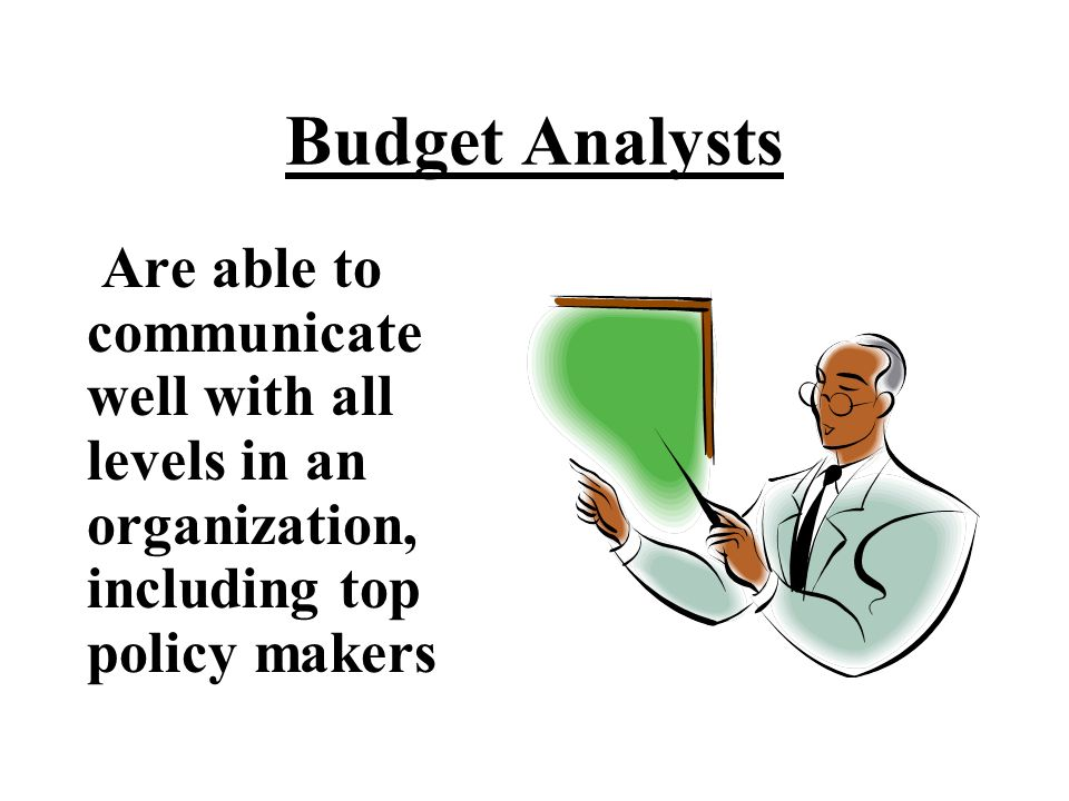 Budget Analysts Work in a professional and disciplined manner