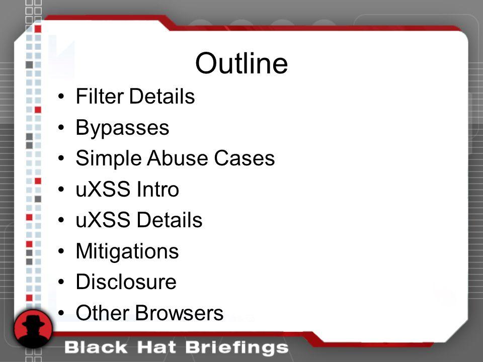 URLs! URLs make you vulnerable After filter: