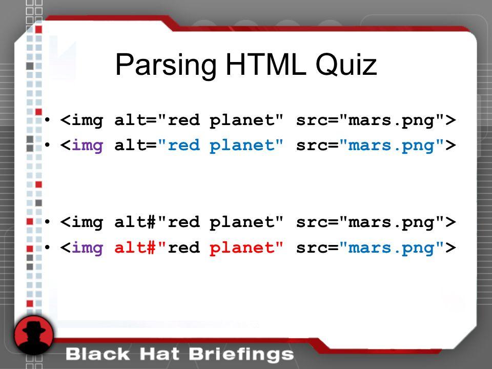 Parsing HTML Quiz