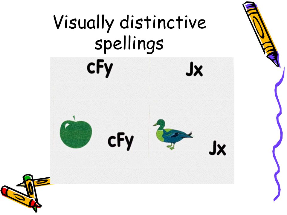 Visually distinctive spellings