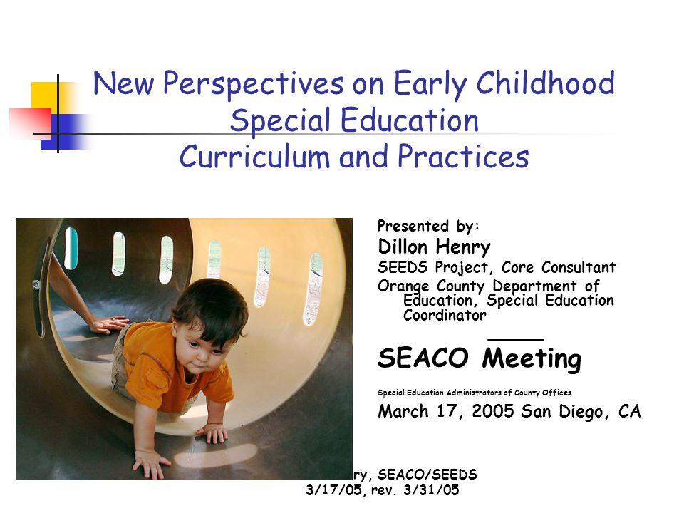 Dillon Henry, SEACO/SEEDS 3/17/05, rev.