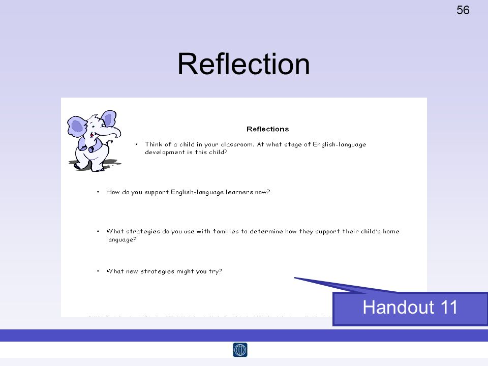 56 Reflection Handout 11