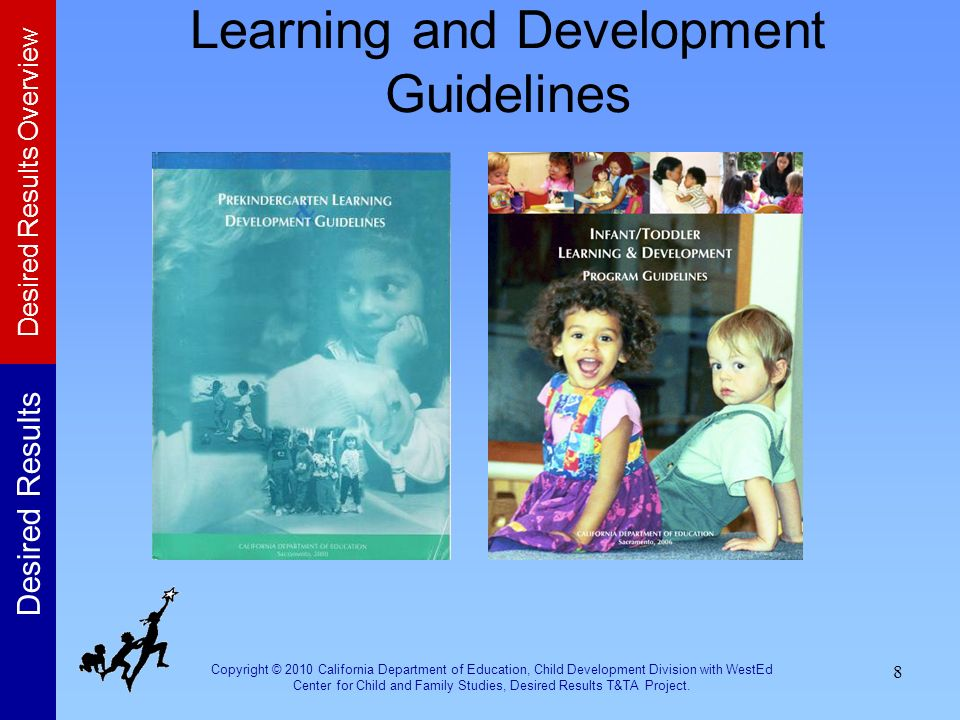 Copyright © 2010 California Department of Education, Child Development Division with WestEd Center for Child and Family Studies, Desired Results T&TA