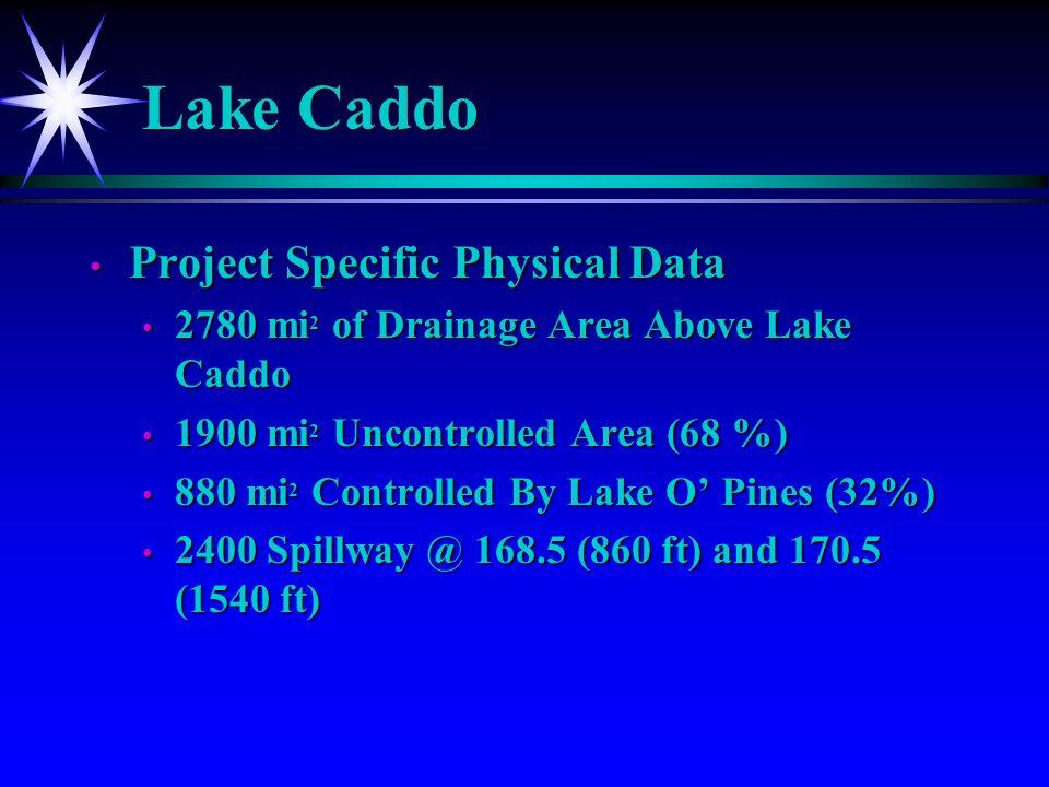 Cypress Bayou Basin Uncontrolled Area 1900 mi 2 or 68% Total Drainage Area Above Caddo 2780 mi 2